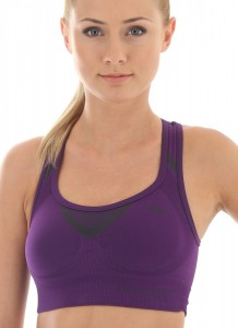 CR10070 Crop top FITNESS purpurowy