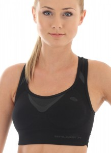 CR10070 Crop top FITNESS czarny